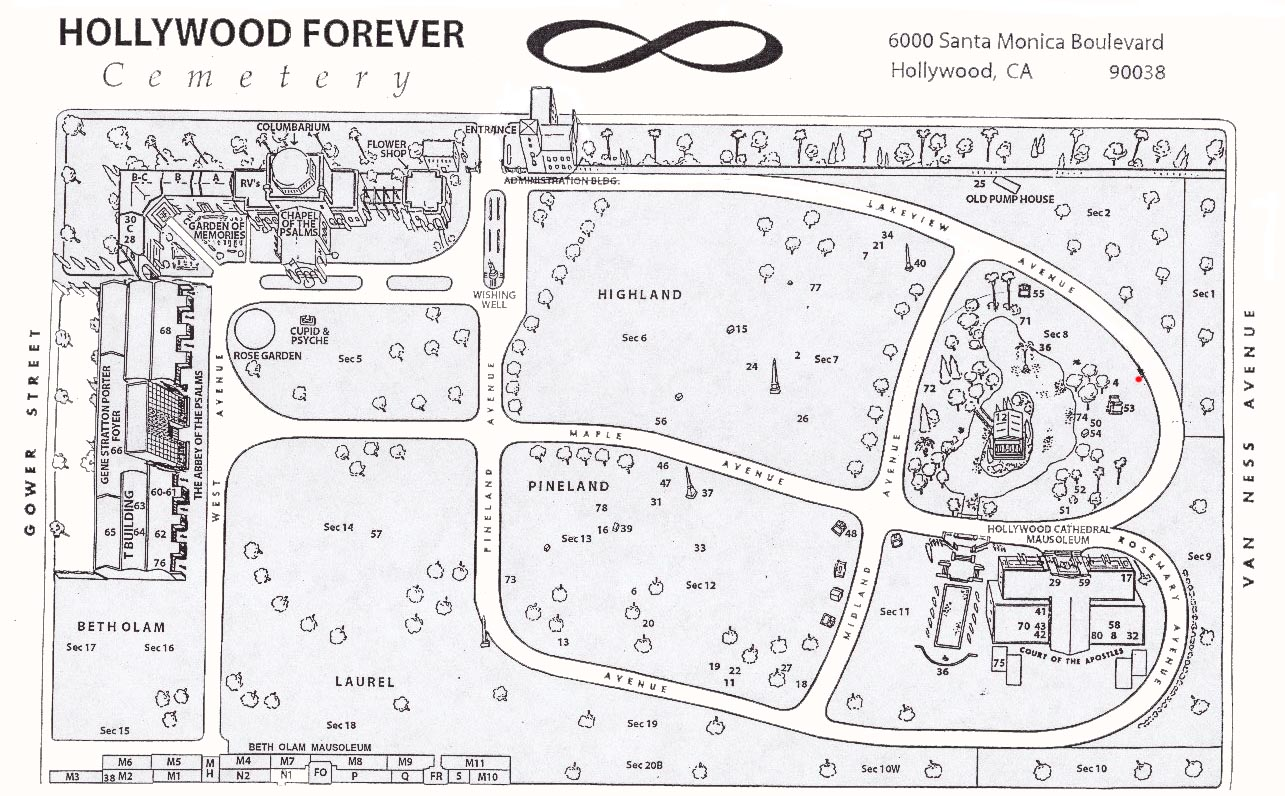 Cemetery Maps - Los angeles map to the stars